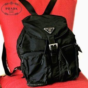 🆕LIKE NEW PRADA Backpack Black Nero Nylon Leather